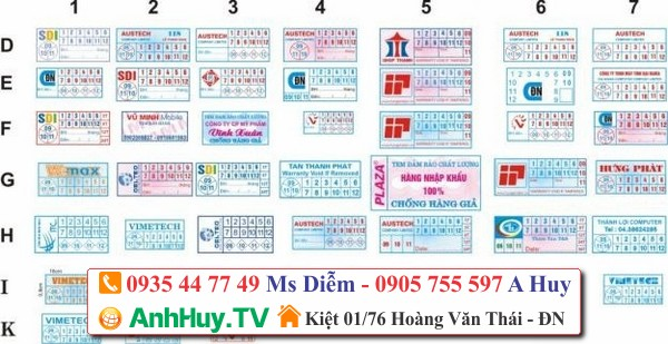 ANHHUY TV IN TEM BẢO HÀNH GIÁ RẺ ĐÀ NẴNG 0935447749 - 0901 994088