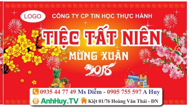 In bạt Hiflex cho tiệc tất niên tiệc năm mới tại Đà Nẵng 0905755597