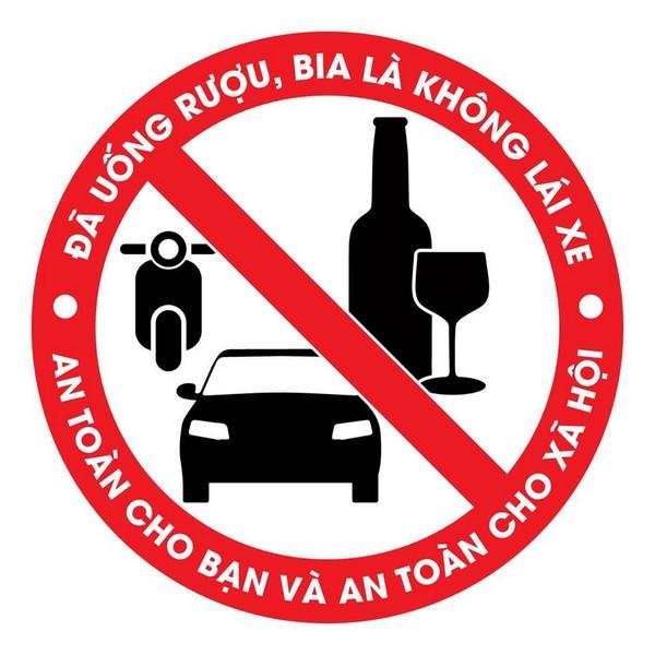 đã uống rượu bia thì không lái xe decal dán logo 0935447749 Xuân Diễm . ANH HUY TV