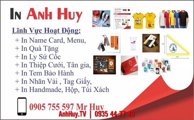 In Name Card Đà Nẵng Thiêt Kế In Ấn Dịch Vụ In Quảng Cáo Anh Huy TV 0935447749
