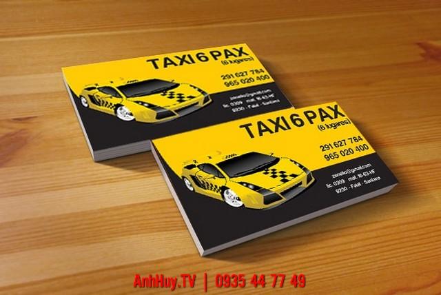 In Name Card Đà Nẵng Mẫu 1 Taxi , LH 0935447749 Xuân Diễm