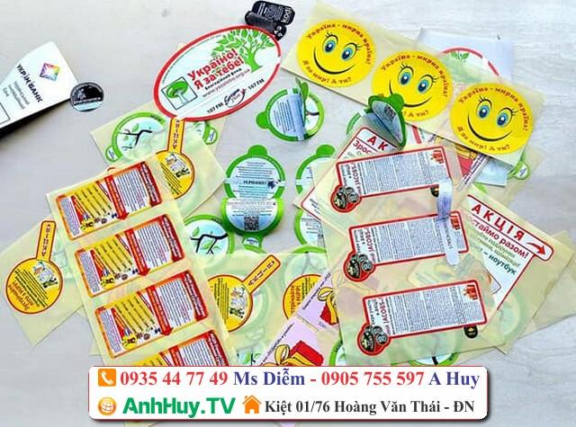 In Nhãn Decal Giá Rẻ Đẹp Nhanh Tại Anh Huy TV thiết kế in ấn quảng cáo Đà Nẵng 0935447749