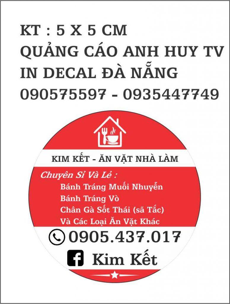 In Decal Đà Nẵng Tem Nhãn Mẫu Kim Kết Ăn Vặt
