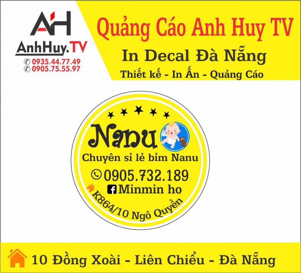 In Tem Nhãn Decal Dán Sản Phẩm Tại Đà Nẵng Mẫu Nanu 0935447749