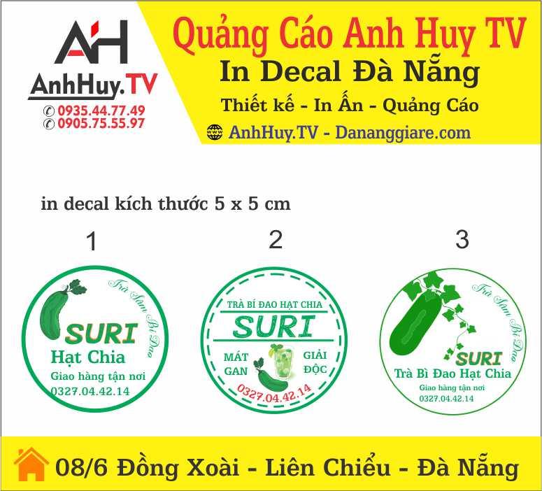 Logo Tem Nhãn Dán Chai Trà Bí Đao Hạt Chia Nhà Làm Tại Đà Nẵng