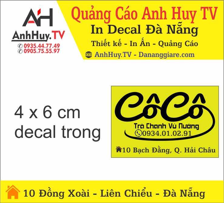 Mẫu Tem Nhãn Dán Trà Sữa Trà Chanh Cô Cô Tại Đà Nẵng Giá Rẻ Anh Huy TV 0905755597