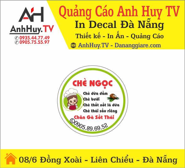 In Logo Tem Nhãn Dán Decal Sản Phẩm Chè Ngọc Tại Đà Nẵng 0905755597