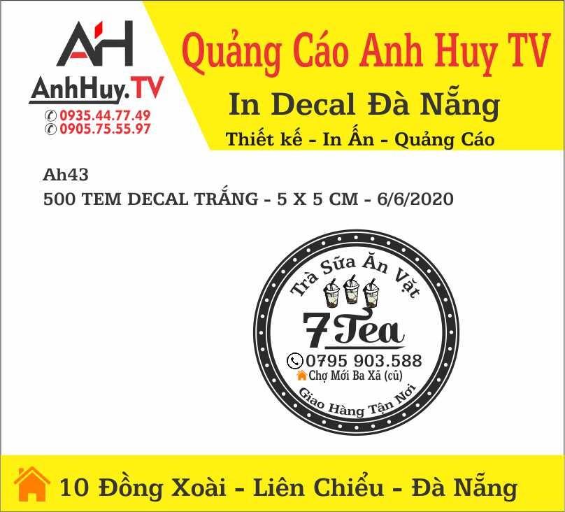 In Logo Sticker Tại Đà Nẵng Nhãn Dán Sản Phẩm Quảng Cáo 0935447749