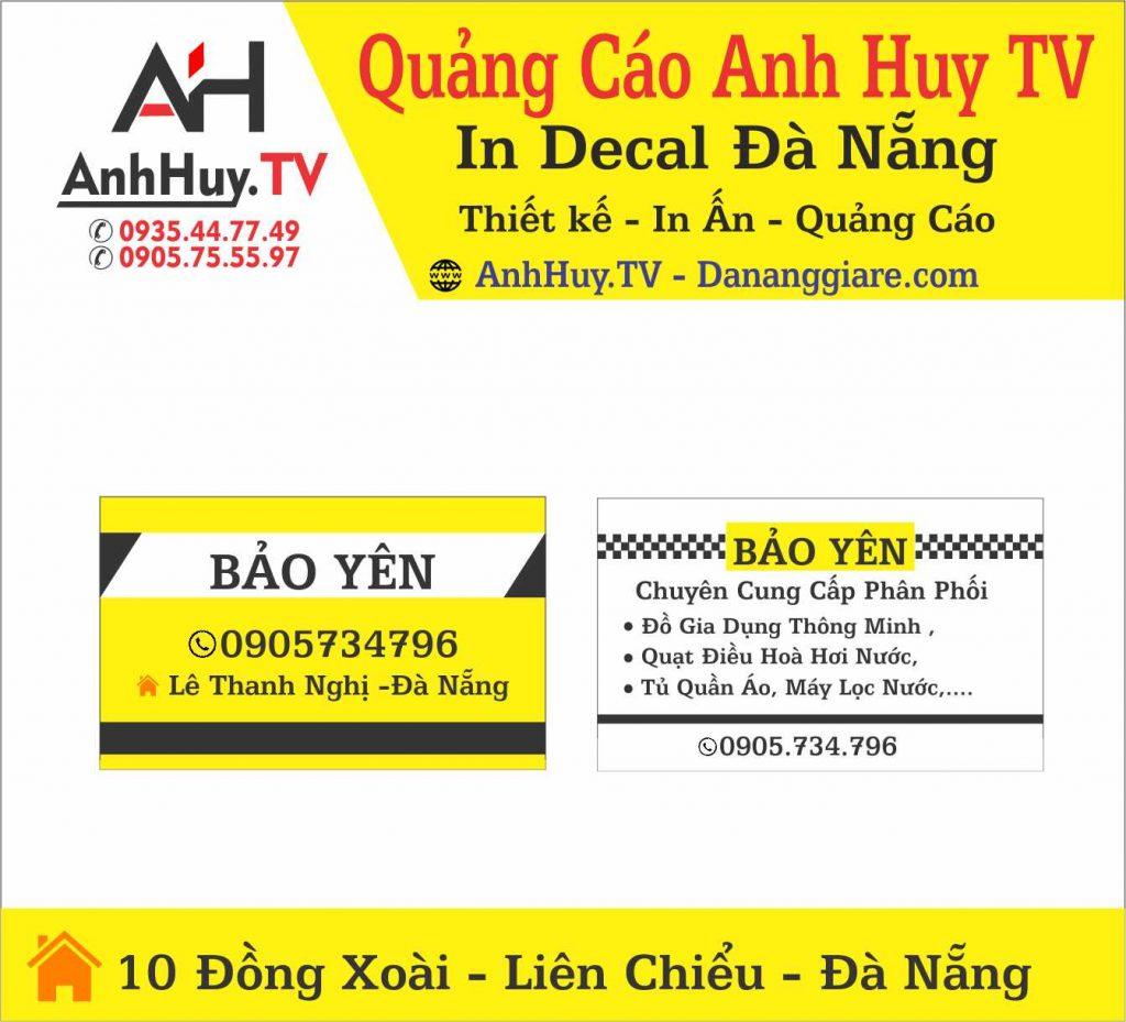 In Name Card Visit Danh Thiếp Mẫu AH01 0705444489 anhhuytv