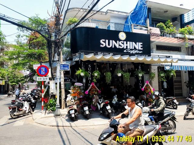 Làm Bảng Hiệu Quán Coffee SUNSHINE Tại Đà Nẵng Giá Rẻ ANHHUY TV 0705444489