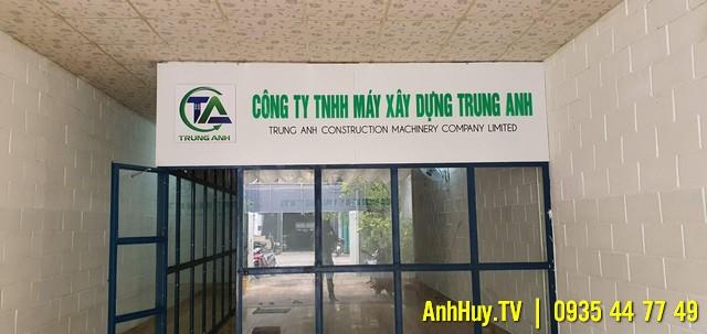 Làm Bảng Hiệu Quảng Cáo Chữ Nổi Công Ty TNHH Máy Xây Dựng Trung Anh 0705444489