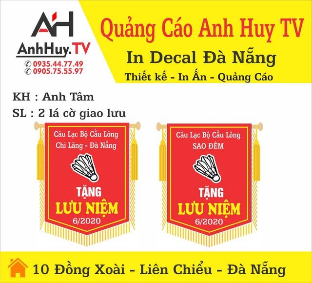 Làm Cờ Lưu Niệm Câu Lạc Bộ Cầu Lông Đà Nẵng Giá Rẻ Anh Huy TV