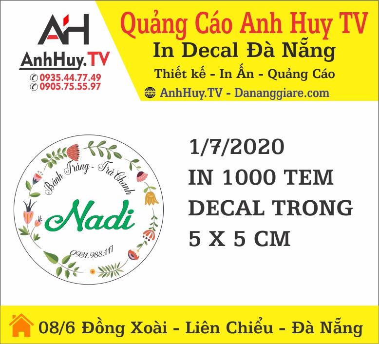 In Logo Đà Nẵng Mẫu Tem Nhãn Trà Chanh Trà Sữa Đà Nẵng 0935447749