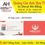 In Name Card Đà Nẵng Mẫu Lẩu Phê 319 Lê Thanh Nghị