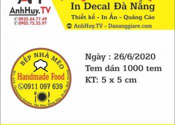 Mẫu tem nhãn dán thực phẩm handmade giá rẻ