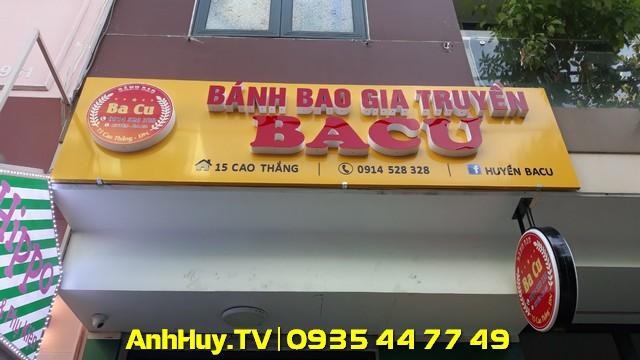Làm Bảng Hiệu Bánh Bao Gia Truyền BaCu Đà Nẵng 7 2020