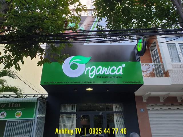Thi Công Alu Tại Đà Nẵng Bảng Hiệu Quảng Cáo Organic Thực Phẩm Hữu Cơ 070544489