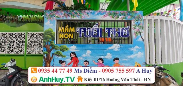 Làm bảng hiệu quảng cáo Trường Mầm Non Tuổi Thơ Đà Nẵng
