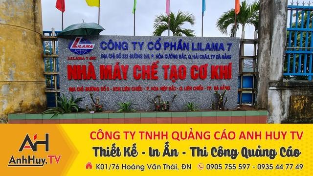Làm bảng hiệu quảng cáo công ty cổ phần lilama 7 nhà máy chế tạo cơ khí