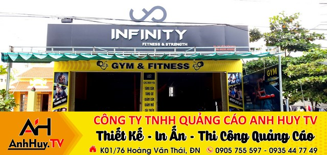 làm bảng hiệu clb gym Đà Nẵng infinity