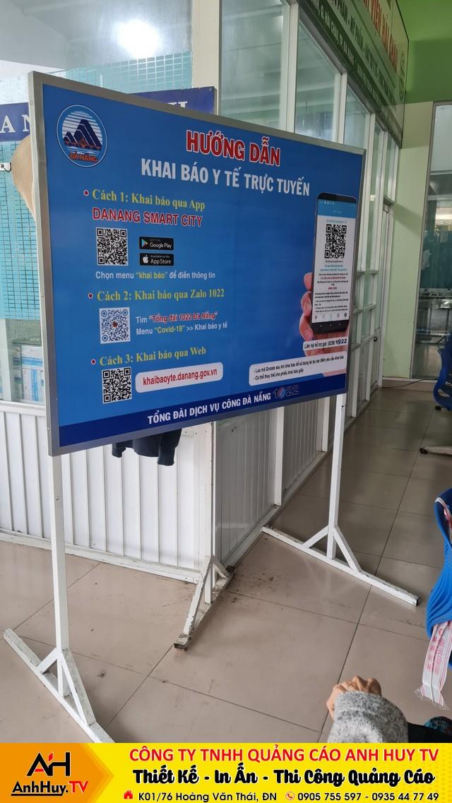 Làm bảng hướng dẫn khai báo y tế trực tuyến tại Đà Nẵng