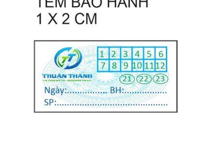 Tổng hợp những mẫu tem bảo hành niêm phong đẹp nhất tại Đà Nẵng