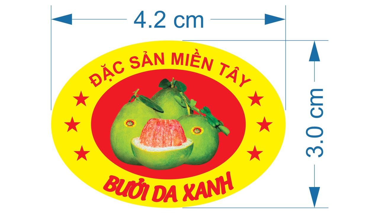 Tổng hợp mẫu tem nhãn dán trái cây đặc sản vùng miền tại Đà Nẵng giá rẻ