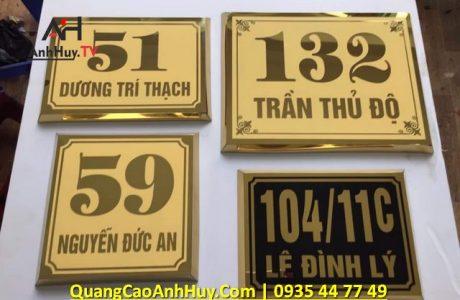 Bảng số nhà, làm bảng số nhà mica, inox, Anh Huy 0905755597