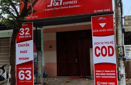 Thi công biển hiệu quảng cáo chuyển phát nhanh JT Express