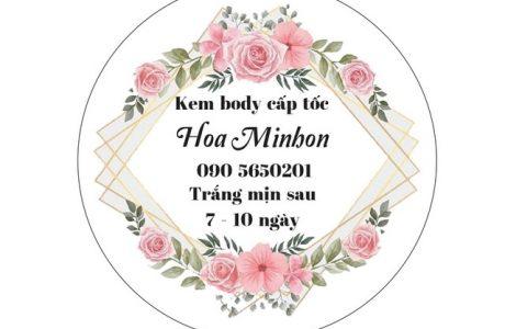 In tem nhãn kem body trắng da làm đẹp tại Đà Nẵng