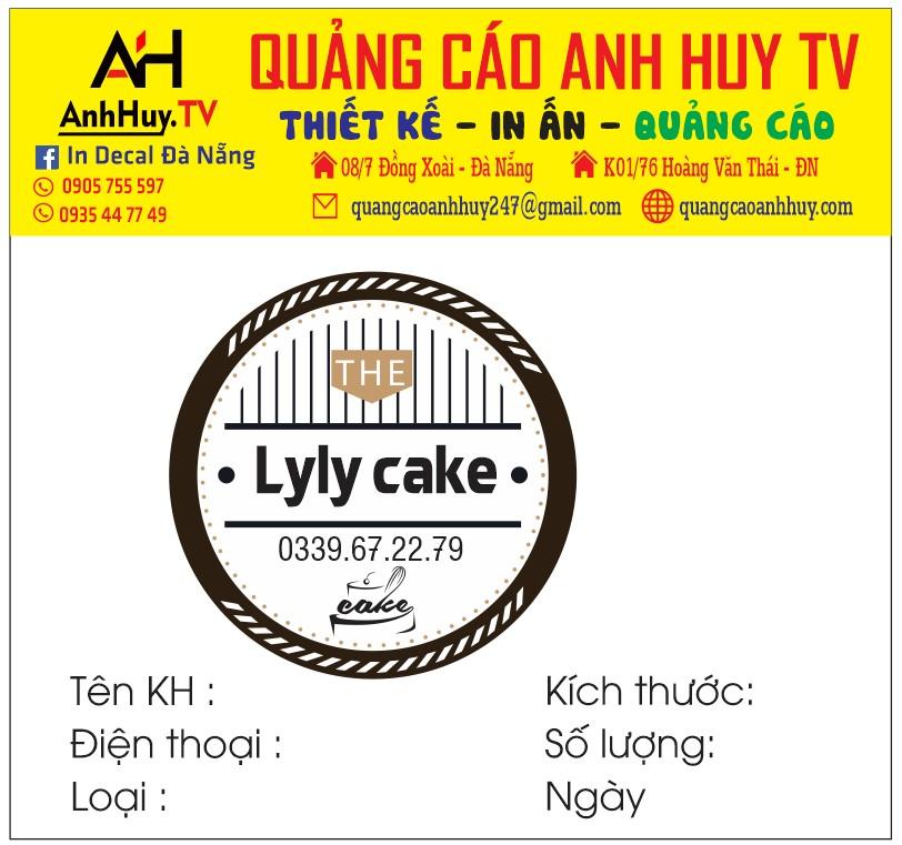 In logo tem nhãn dán tiệm bánh kem bông lan