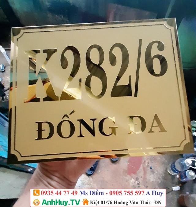 Làm bảng inox mica biển số nhà công ty doanh nghiệp tại Đà Nẵng